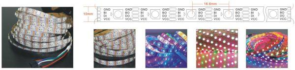 ws2815 rgb led strip 60LED per meter
