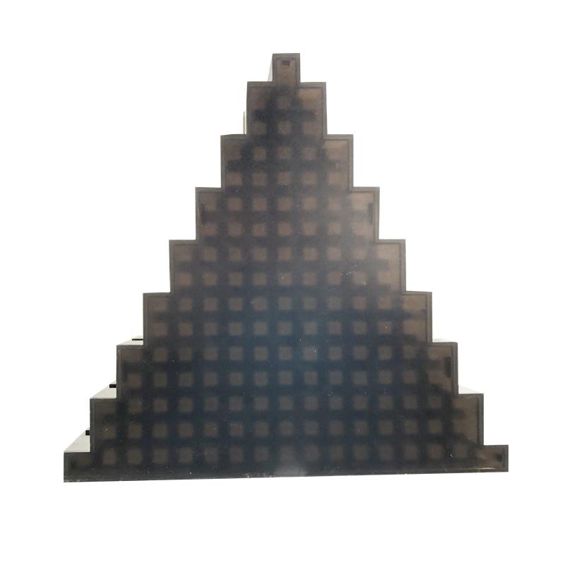 全彩像素三角板